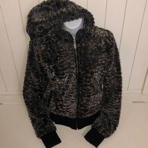 Jackets & Blazers - Soft pile Zipper hooded Jacket.